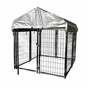Outdoor Heavy Duty Dog Kennel Galvanized Steel Wire Fence Pet Cage Pen Run House