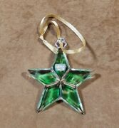 Mikasa Holiday Collection Green Star Glass Crystal Ornament
