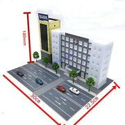 Outland Models Scenery Layout Modern Hospital And Bank And Road Model Set N Scale