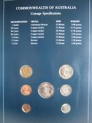 Australia 1984 And 1985 Coin Sets Of All Nations 1 Cent - 1 Stamp Carded Info