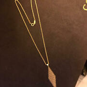 And Co. 18k Yellow Gold Mesh 0.03 Ct Diamond Pendant Necklace