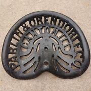 Parlin And Orendorff Tractor/plow Seat