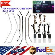 For Mercedes-benz 64 Color Led Ambient Light X253 Glc Class W205 C Class 14-18