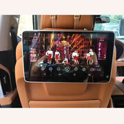 Headrest Monitor For Bmw X6 F16 Android 10.0 4k Video Player Wifi Car Tv Screen