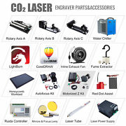Co2 Laser Engraver Accessories - Water Chiller Rotary Axis Red Dot Assist Ruida