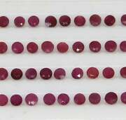 Faceted Cut Natural Red Ruby Gemstoneruby Round Shape Gemstone For Jewelry S582