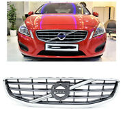 Chrome Front Upper Grille Grill Fits 2011 2012 2013 Volvo S60 4-door