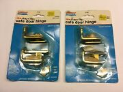 New National Hardware Super Swing Nandrsquo Stay Cafe Door Hinge Brass Usa - 2 Packs