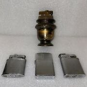 Vintage Penguin Lighter Lot Of 4 Table Lighter, Whirlwind 19587, 18249 And 111957