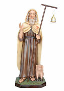 Saint Anthony Tea Abbot Resin Statue Cm. 100 With Glass Eyes