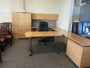 Executive Office By Knoll Office Furniture In Light Oak Finish Wood