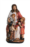 Jesus With Children Statue Wood Carving