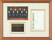 The Warren E. Burger Court - Autograph Circa 1970 With Co-signers