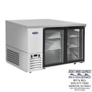 New - Mbb59ggr Andndashatosa Glass Door Bar Coolers Commercial Kitchen Ss Inside And Out