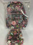 Vera Bradley Disney Mickey And Friends Iconic Campus Backpack And Lunch Bunch Exact