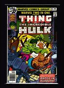 Marvel Two-in-one 46 Vf/nm - Hulk Appearance - Hulk Vs Thing - Fantastic Four