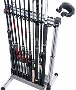 Luxhmox Fishing-holder Stand Holds Up To 24 Rod-rack For All Types Of Rods And C