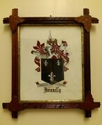 Antique Wood Frame Rustic American Arts And Crafts Movement Craftsman