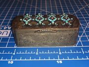 1846 Russian Gilt 84 Silver Turquoise And Seed Pearl Snuff Box By Dmitri Nikolaev