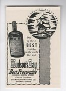 Old Vintage 1940and039s Alcohol Liquor Bottle - Hudsonand039s Bay Scotch Whiskey - 1945 Ad