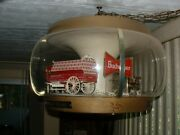 Rare Original Working 1960and039s Budweiser Clydesdale Carousel Rotating Light