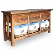 Dining Buffet Living Room Sideboard Solid Reclaimed Wood 39