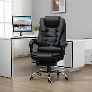 Leather High Back Executive Office Chair Swivel Desk Task Computer Black