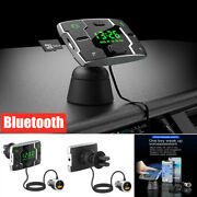 Car Bluetooth Handsfree Fm Transmitter Stereo Mp3 Player Qc3.0 Usb Fast Charger