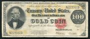 Fr. 1215 1922 100 One Hundred Dollars Gold Certificate Currency Note Very Fine