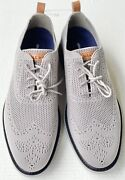 Cole Haan Menand039s Grand Evolution Gray Stitchlite Wingtip Oxford Shoes 11m Nwob