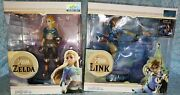 Link Lights Up First 4 Figures Link And Zelda 10 Breath Of The Wild Pvc Statue.
