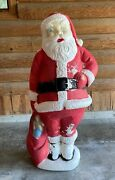 Vintage Blow Mold Santa Claus 5and039 Large Outdoor Yard Decoration Christmas