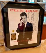 Chris Isaak Speak Of The Devil Autographed Signed Concert Tour Poster Pick Pass