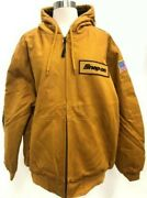 New Snap On Tools Mens Insulated W/hood Winter Coat Zip Up Jacket New Large