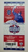 2012 World Series Game 4 Giants Vs Tigers Full Ticket Posey Hr 3 Cabrera Hr 2