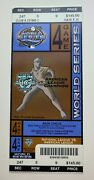 2003 World Series Game 4 Marlins Vs Yankees Full Ticket Cabrera 12th Rbi Hr 4th