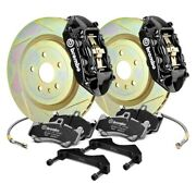 For Chevy Camaro 16-19 Brembo Gt Series Slotted 1-piece Rotor Rear Big Brake Kit