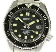 Seiko Marine Master 8l35-00k0 Date Black Dial Automatic Menand039s Watch_614308