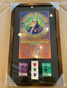 Black Crowes Signed Lithograph Concert Tour Poster W/ Picks And Passes