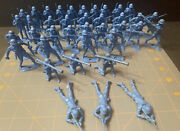 Vintage Blue Toy Soldiers Mpc Lot Of 38