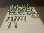 Vintage Mpc Green Toy Soldiers Lot Of 41– 7 Poses