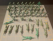 """Vintage Green Toy Soldiers Mpc Lot Of 48 — 7 Poses 2"""""""