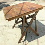 Antique Drafting Table Adjustable Industrial Office Desk Office Kitchen