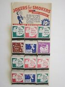 Vintage Jokers For Smokers Snake Matches Store Display Trick Matchbooks 1950and039s