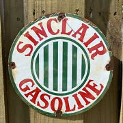 Vintage Sinclair Gasoline Porcelain Metal Sign 12andrdquo Oil And Gas Station Petroliana