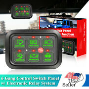 6 Gang Switch Panel Electronic Relay Circuit Control System Rv Boat Marine Truck