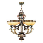 Livex Lighting 8545-64 Seville 5 Light Palacial Bronze With Gilded Accents
