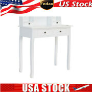 Secretary Table Computer Desk Writing Table Large Storage Space With 4 Drawers