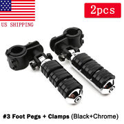 1 To 1-1/4 Highway Foot Pegs Pedal Mount For Harley-davidson Street Glide Flhx