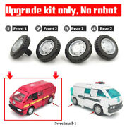 4 Replacement Car Wheels Upgrade Kit For Earthrise Ironhide/ratchet/sg Ratchet